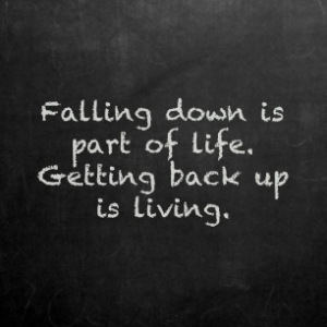 quotes about falling down